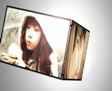 黑白插图风格照片展示会声会影模板