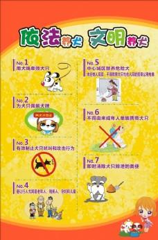文明养犬海报