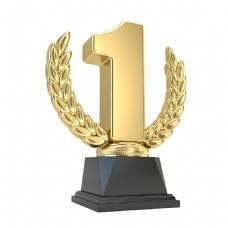 金色冠军奖杯元素