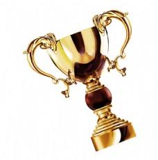 金色花纹奖杯元素