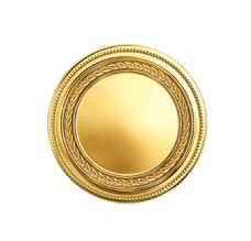 金色花纹圆形元素