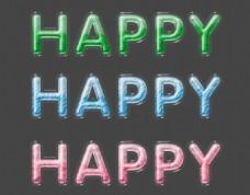 happy艺术字体效果