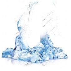 清凉冰块水珠元素