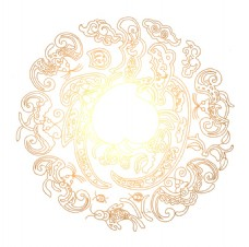 复古花纹圆圈元素