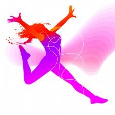 抽象彩色体育与舞蹈矢量素材