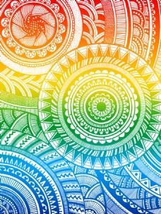 曼陀罗花纹图案