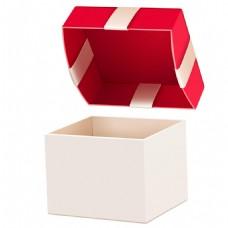 手绘红色礼盒元素
