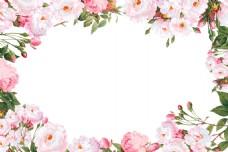 梦幻花朵边框元素