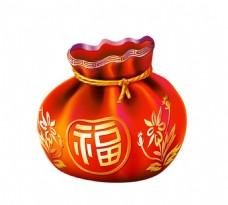 中国风刺绣福袋元素