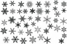 各类雪花背景素材