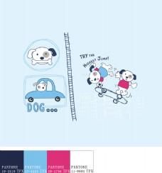 卡通小狗素材