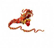 手绘中国舞龙元素