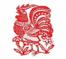 手绘鸡年花纹元素