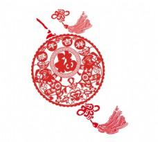 手绘中国风福字元素