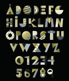 圣诞节素材创意文字艺术字金色设计矢量