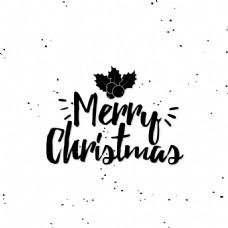 手绘涂鸦圣诞节创意文字设计矢量