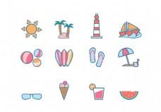 夏天度假图标素材