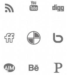 符号黑色简单平面化图标