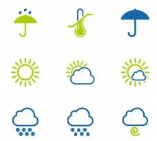 天气蓝色小图标