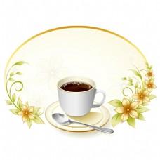 手绘下午茶边框元素