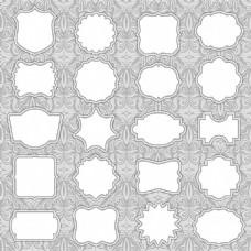 欧式花纹图框矢量素材