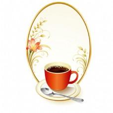 手绘咖啡边框元素