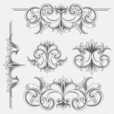 欧式花纹图案矢量素材