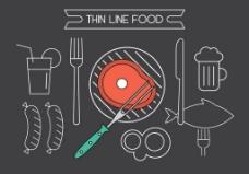 餐饮线条图