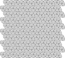 三角内圆图案