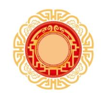 手绘中国风花纹元素