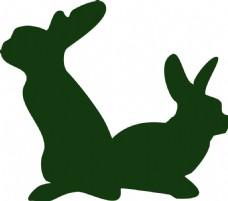 兔子剪影动物