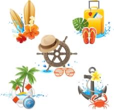 创意夏天旅行插画
