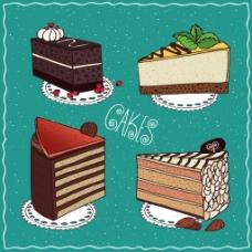 卡通蛋糕矢量插画