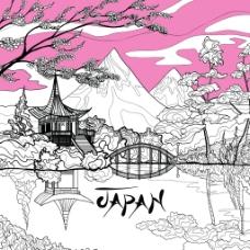 日式和风矢量背景