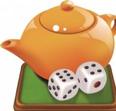 茶楼 水晶 茶壶 大图 绘图
