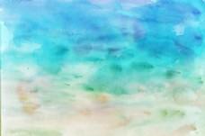 彩色水彩墨迹素材配图
