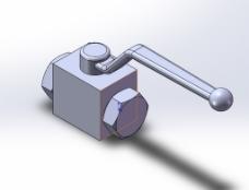 DN20高压球阀模型效果图
