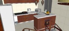 新中式厨房效果图草图大师SU模型
