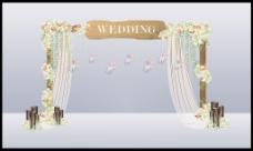 婚礼小清新合影背景