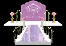 紫色婚礼效果图主背景