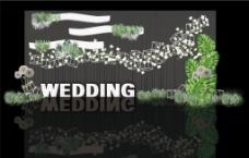 白绿色婚礼效果图