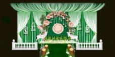 绿色森系舞台