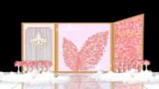 粉色玫瑰花婚礼展示区