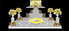 灰黄色婚礼