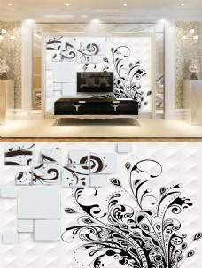 立体纹理电视背景墙