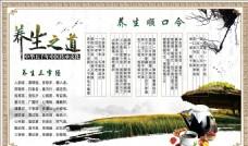 中国风 养生展板