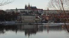 河岸城堡建筑视频素材
