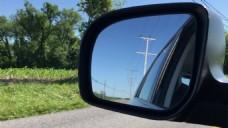 汽车反光镜的风景视频