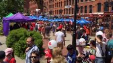 城市旅游人物街道视频