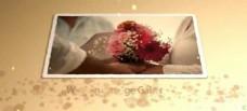 金色沙滩中的浪漫婚礼相册展示模版